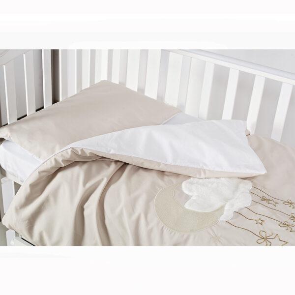 сменная постель-TМ Babycentre _ Twins Moonlight- beige 2